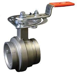 Vic-300™ MasterSeal™ Absperrklappe aus Edelstahl Serie 461 mit 10 Positionen Hebel- STLB-Bau Mustervorlage -