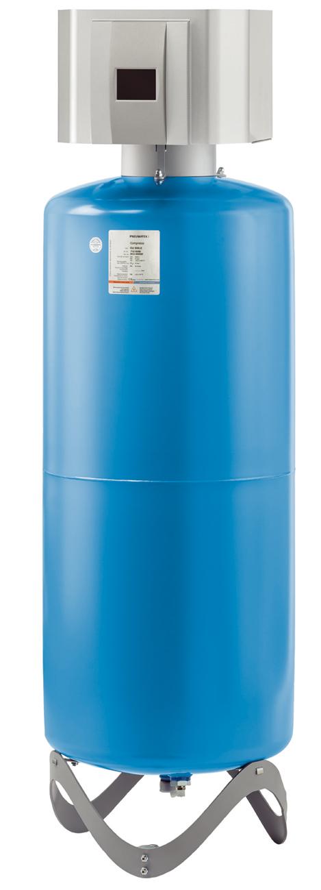 PNEUMATEX Präzisionsdruckhaltung Compresso Connect C 10.1-6 F, PNEUMATEX Basisgefäß Compresso CU 400.6- STLB-Bau Mustervorlage -